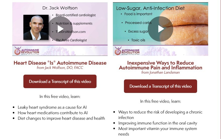 autoimmune summit free transcripts